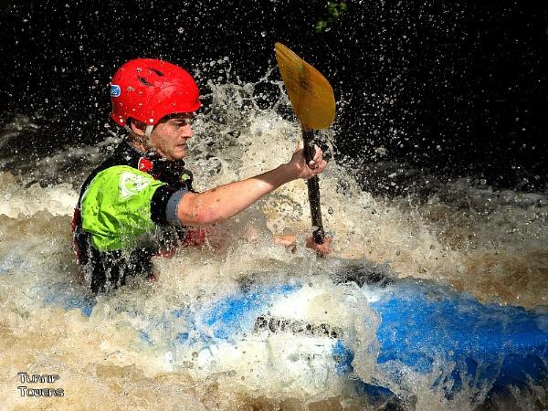 Whitewater kayaker by turniptowers