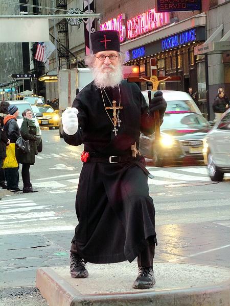 "\""Orthodox Priest in NYC\"" by guitarman74uk"