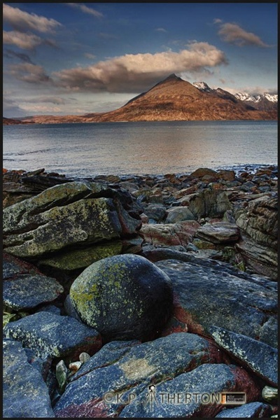 the round boulder at egol on skye by ATHERTON