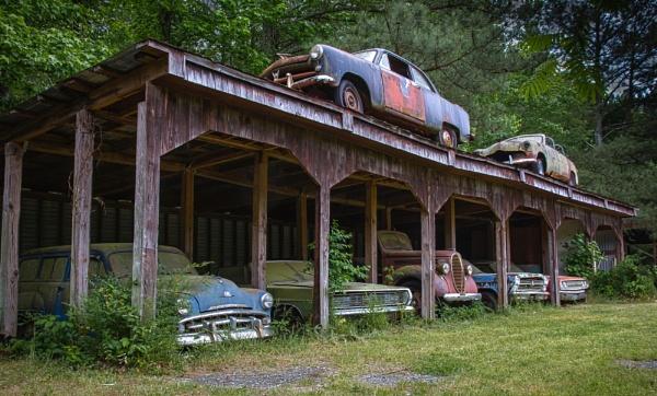 The Abandoned Garage by Mackem