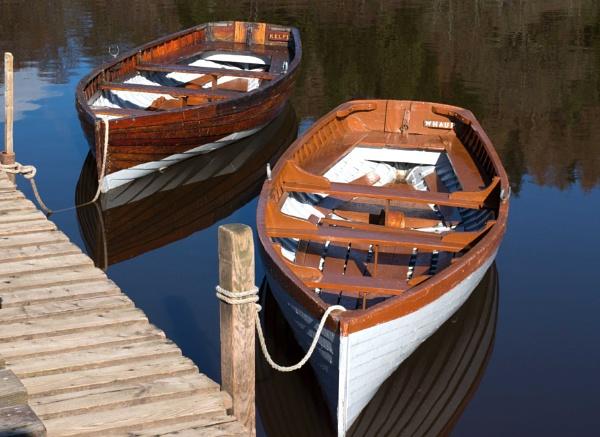 Loch Lomond rowing boats by killiekrankie