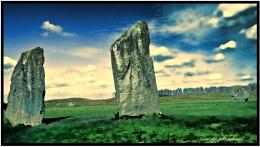 Avebury Stone Circle : Two Gentlemen with Two Ladies.