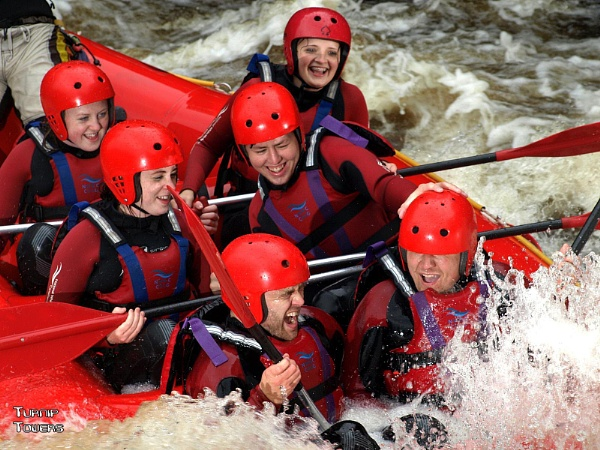 Whitewater rafters by turniptowers