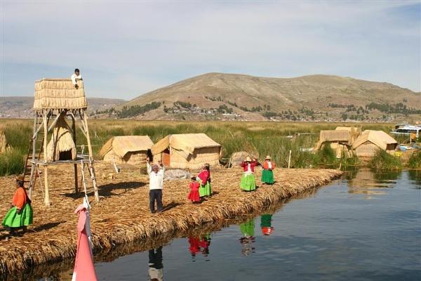 Uros floating Islands, Lake Titticaca. by MichelleMM