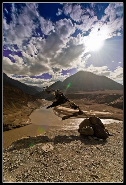 Zanskar river sangam point by nganthade