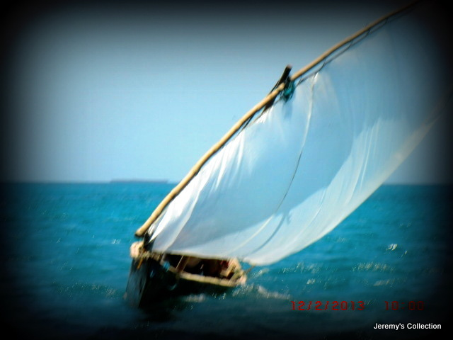 African Fishing Boat Heading For Us