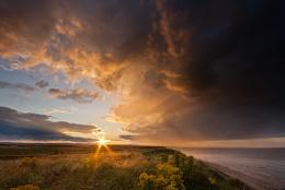 Shower Sunset