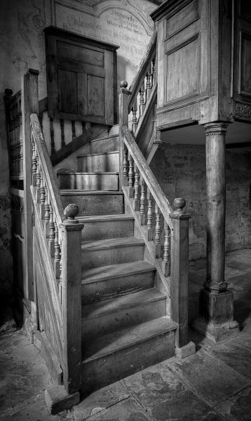 Abbey Dore Stairs by Kim Walton
