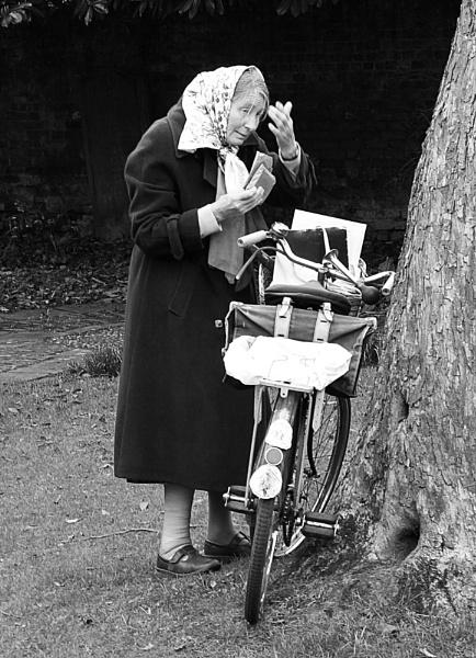 Woman & bike by versa310