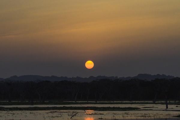 Sunset over Yala National Park by pdunstan_Greymoon