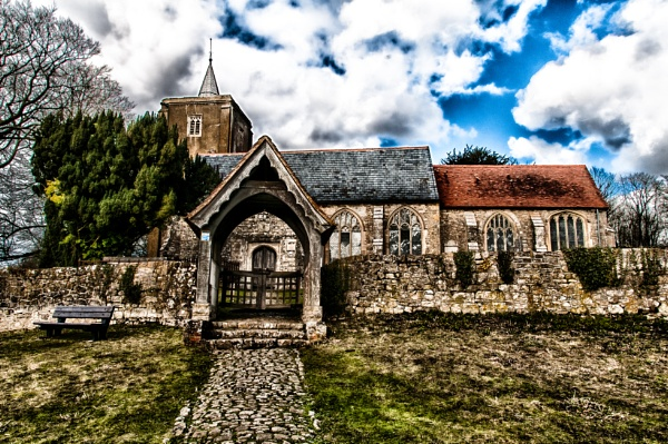 St Micheals East Peckham, from the road V2 by Nikonuser1