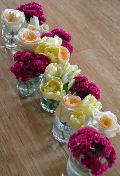 Celosia RosesTulipsWaterlily by CLARECUM