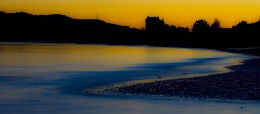 Broughty Ferry Castle and Beach silhouette.