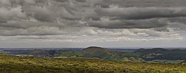 Long Mynd Panorama by Fogey