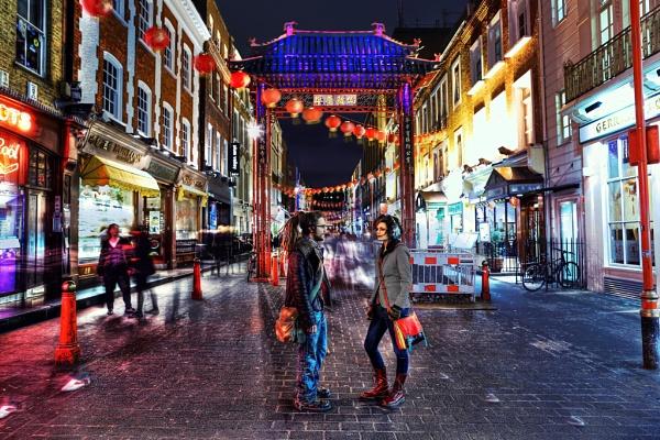 Chinatown at Night by Anatoleya