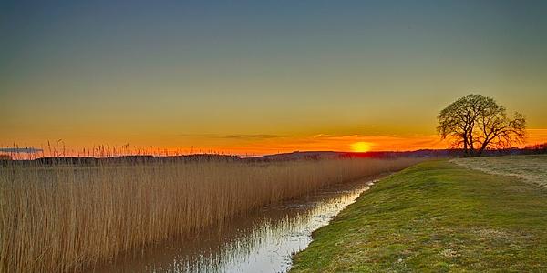 DUFFUS - MOAT SUNSET AT DUFFUS CASTLE by JASPERIMAGE