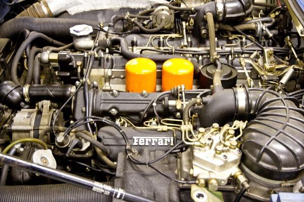 M for MOTOR CAR  Ferrari 730 Bhp V12 engine by rambler