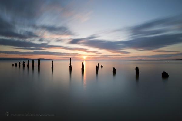 "\""A Sense of Calm\"" (Sunset on Caldy Beach) by razorraymac"