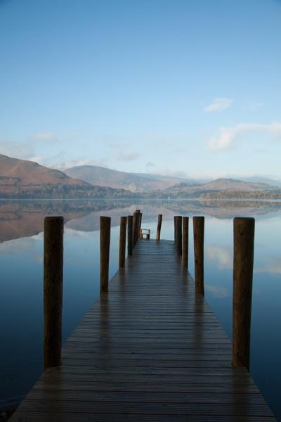 Ashness landing stage, Derwent Water by Juditha