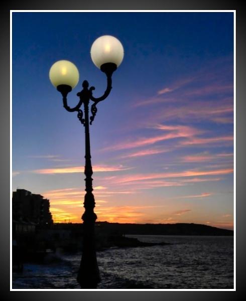 Smartphone Challenge 1 - Sunset at Bugibba, Malta by alistairfarrugia