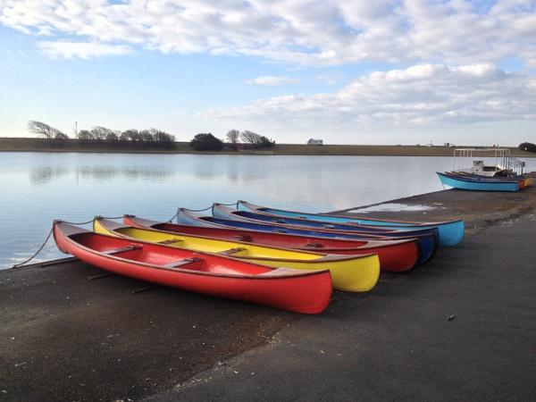 Boats on Fairhaven Lake by jimmy-walton