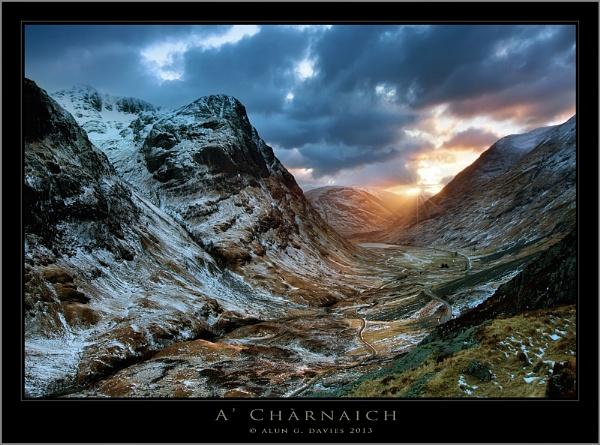 Glencoe Sunset by Tynnwrlluniau