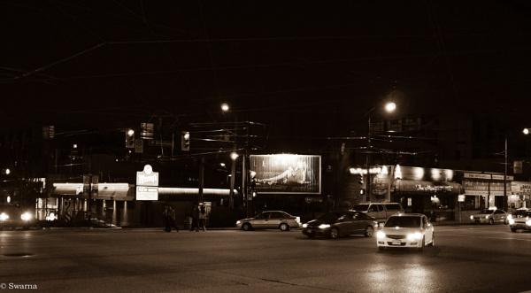 Broadway at Night VI by Swarnadip