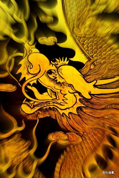 Dragon on Cheng Hoon Teng Temple Gate by Benlib