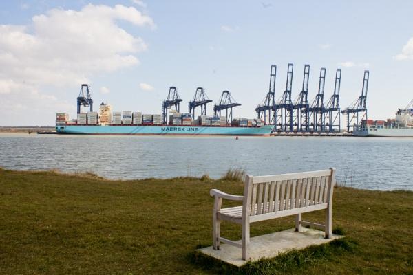 View to Felixstowe Docks by jrcleave77