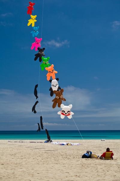 Coluorful kite flying in Sicily by garnham123