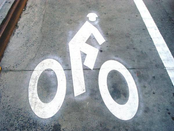 glowing Bike path figure by RobArtphoto