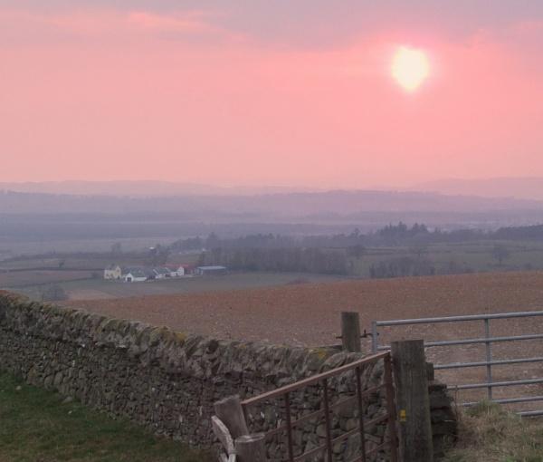 Sunset  over  Dumfriesshire. by pantheonrider