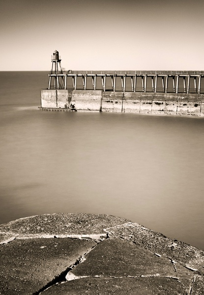 - Whitby Pier - by bart_hoga