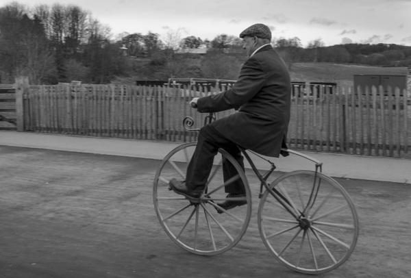 Old bike penny farthing by steveo12