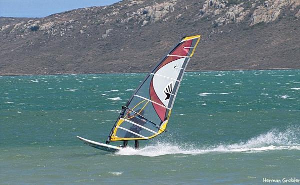 Wind surfer by Hermanus