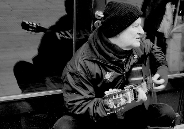 Black and White Busker by Ploughman