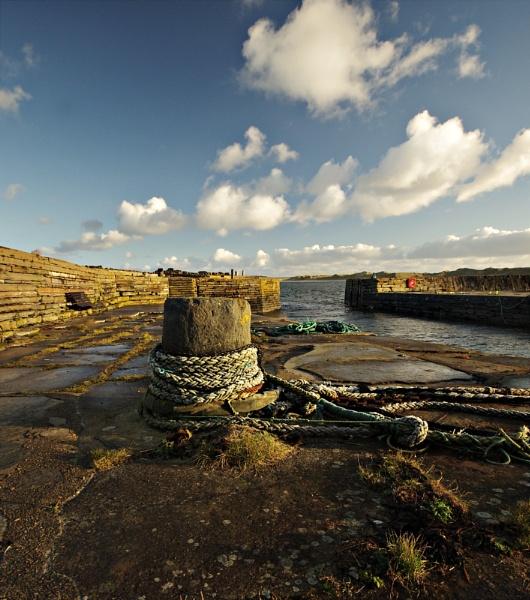 Castletown Harbour Mooring Pillar by IanLuckock