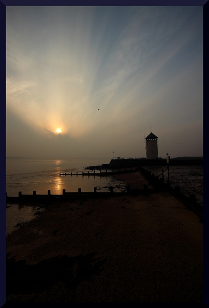 Brightlingsea cloudy sunset by BillyBunter