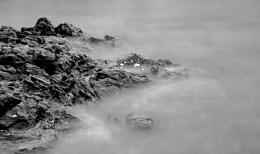 Rocks emerging