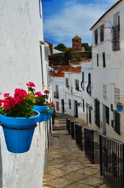 Street Scene Mijas Pueblo Spain by fotocraft