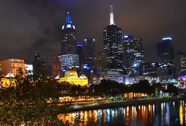 Melbourne sky-line by fotocraft