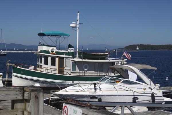 Boats On The Burlington Waterfront, Lake Champlain by gconant