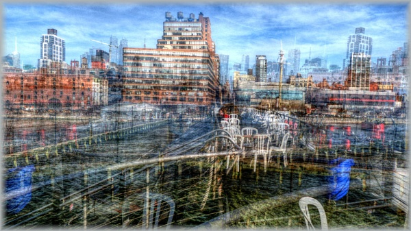 Manhatton ,New York , Tonemapped and overlayed with 4 photo\'s by Chrisjaz