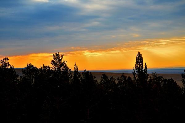 sunset by enkee