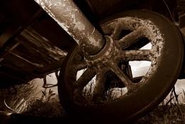 Very old train wagon