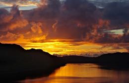 Sunset over Loch Inshard II, Rhiconich, Sutherland, Scotland