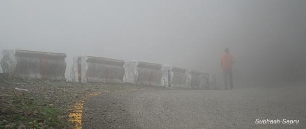 A Foggy morning by Subhashsapru