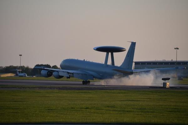 E-3D Sentry landing at RAF Waddington by Bryan_Marshall