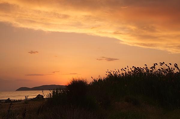Thasos sunset by KevRobo