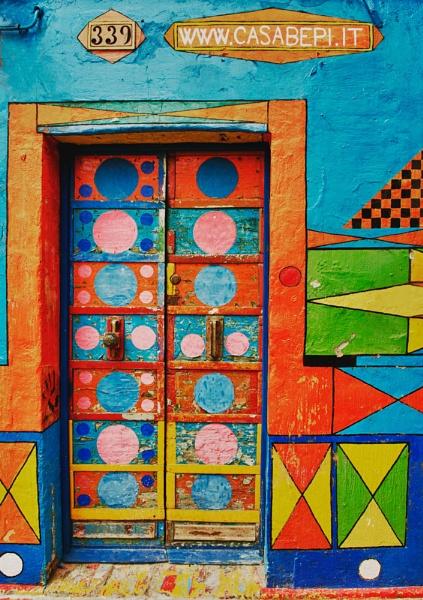 Door on Burano by jennialexander